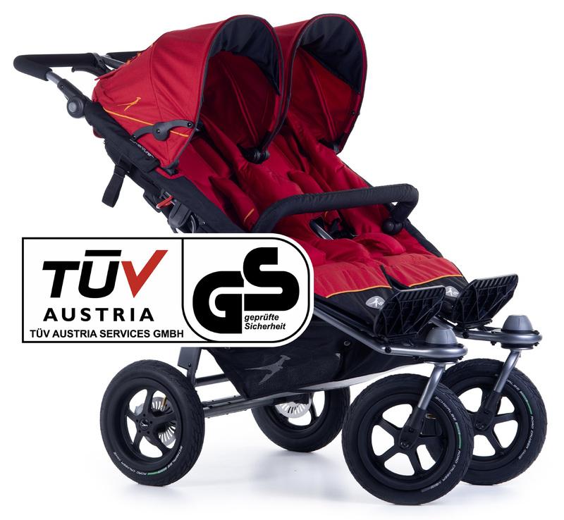 TFK - kočík pre dvojičky Twin Adventure 2 Tango Red T-TWA-19-345