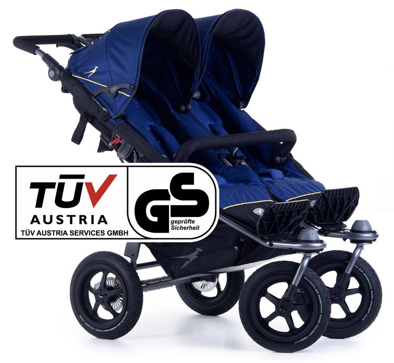 TFK - kočík pre dvojičky Twin Adventure 2 Twilight Blue T-TWA-19-333