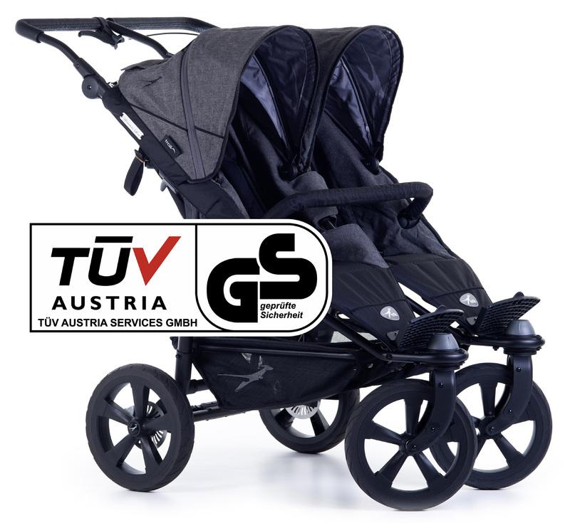 TFK - kočík pre dvojičky Twin Trail 2 Premium Grey T-TWT-19-P-415