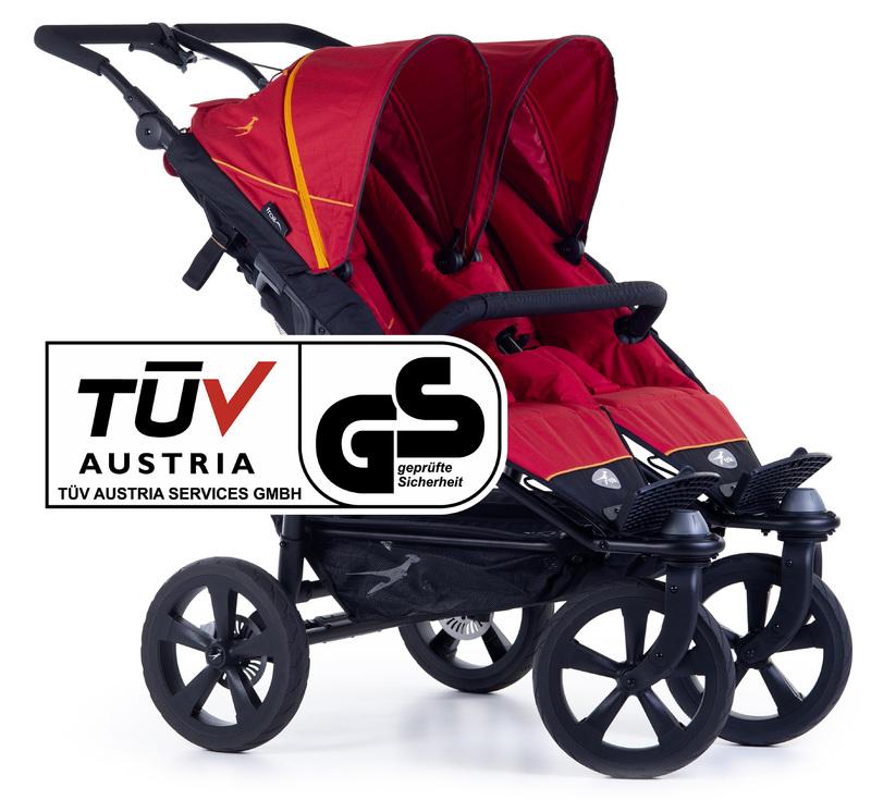 TFK - kočík pre dvojičky Twin Trail 2 Tango Red T-TWT-19-345