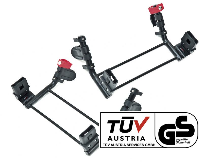 TFK - Základne pre dva adaptéry na dve autosedačky skupiny 0, na kočík Twin Trail 2 adaptér group 0 for TWT set T-006-GO-TWT-19-2 New