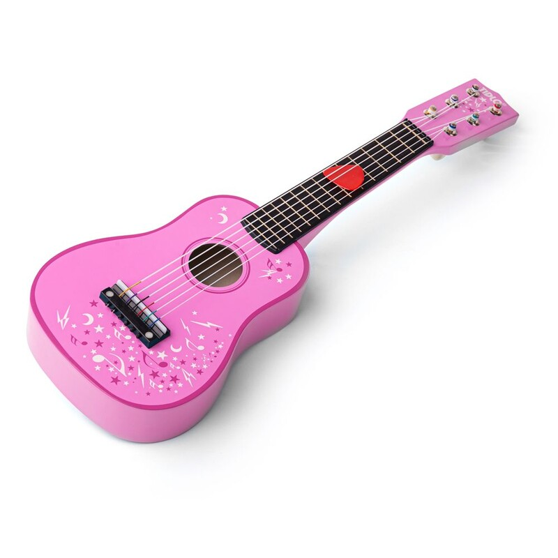 TIDLO - Drevená gitara Star ružová