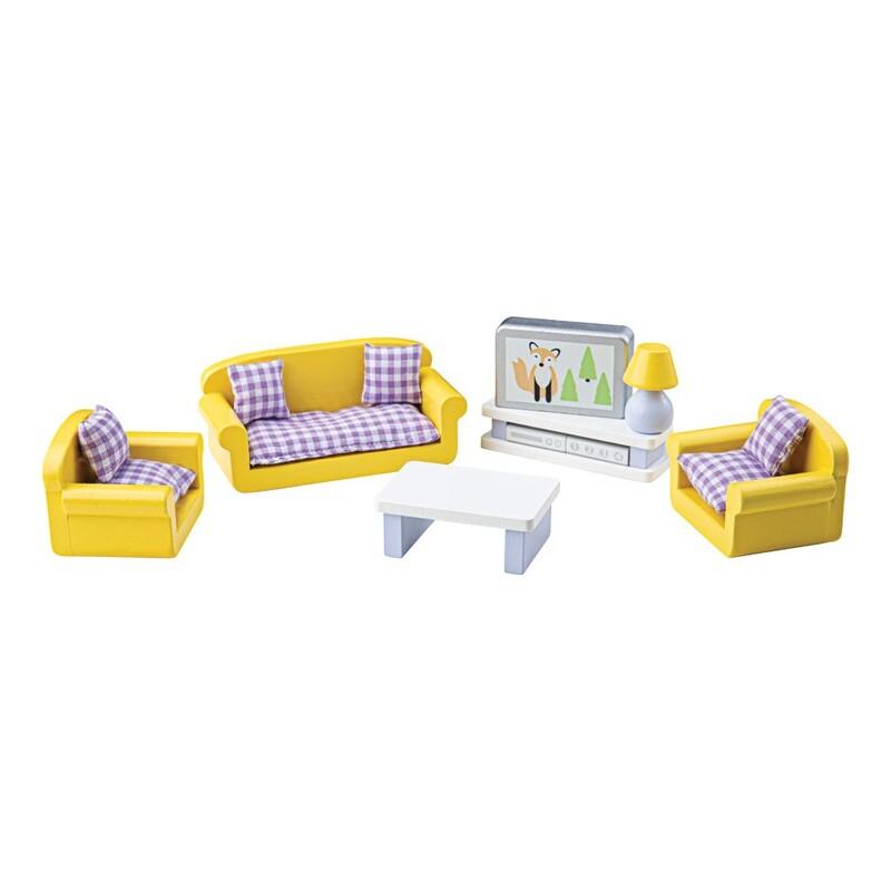 TIDLO - Drevený nábytok obývacia izba žltá