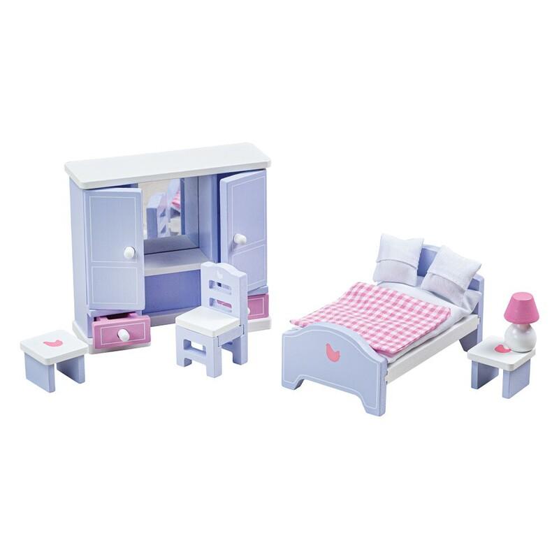 TIDLO - Drevený nábytok spálňa svetlo fialovo-modrá