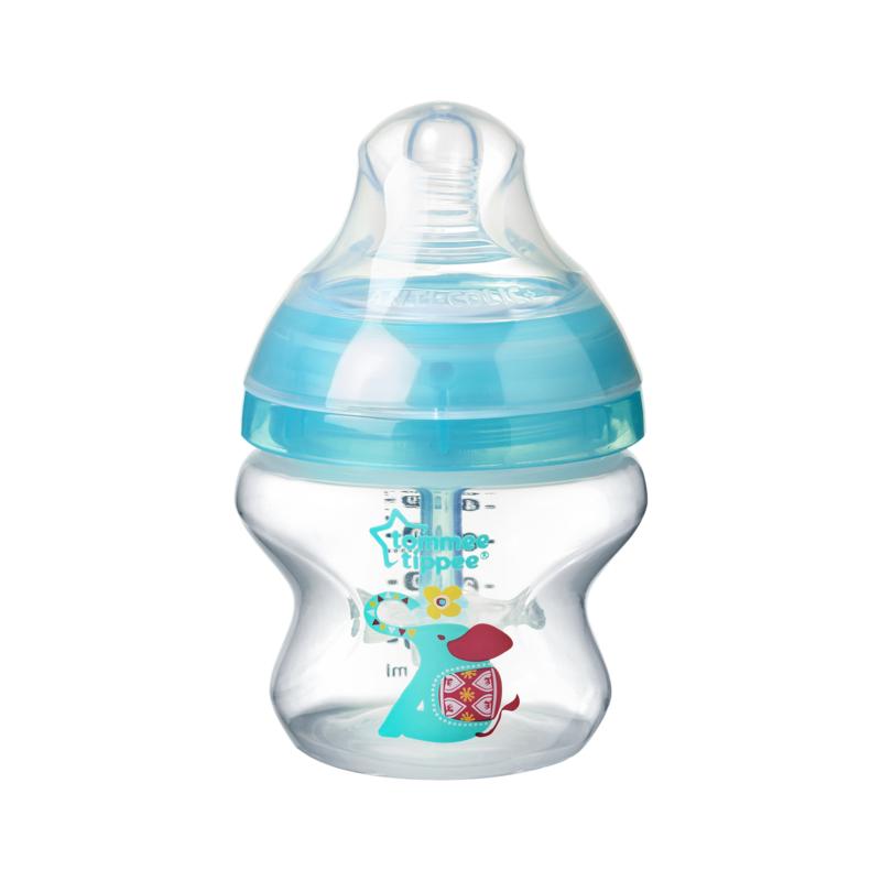 TOMMEE TIPPEE - Dojčenská fľaša C2N ANTI-COLIC potlač 150ml 0m+