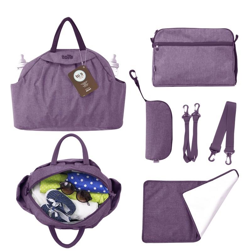 TOTS - Prebaľovacia taška Chic, purple melange