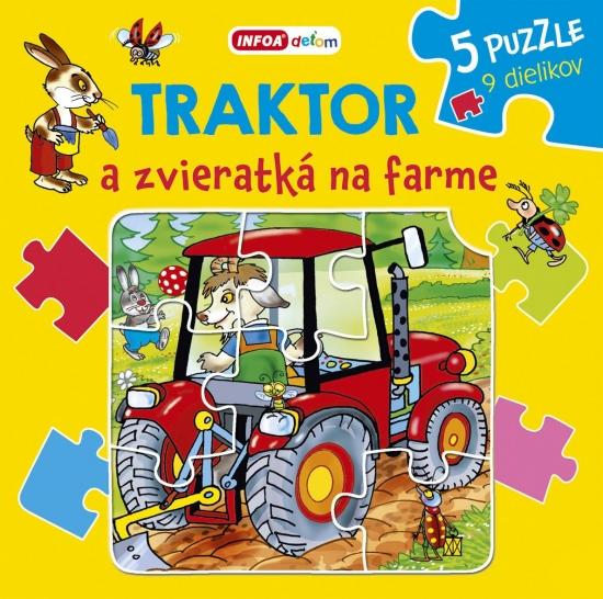 Traktor a zvieratká na farme - puzzle - Pavlína Šamalíková