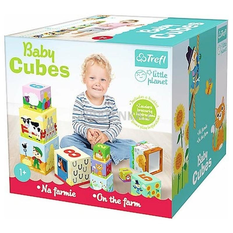 TREFL - Baby kocky pyramída Na farme