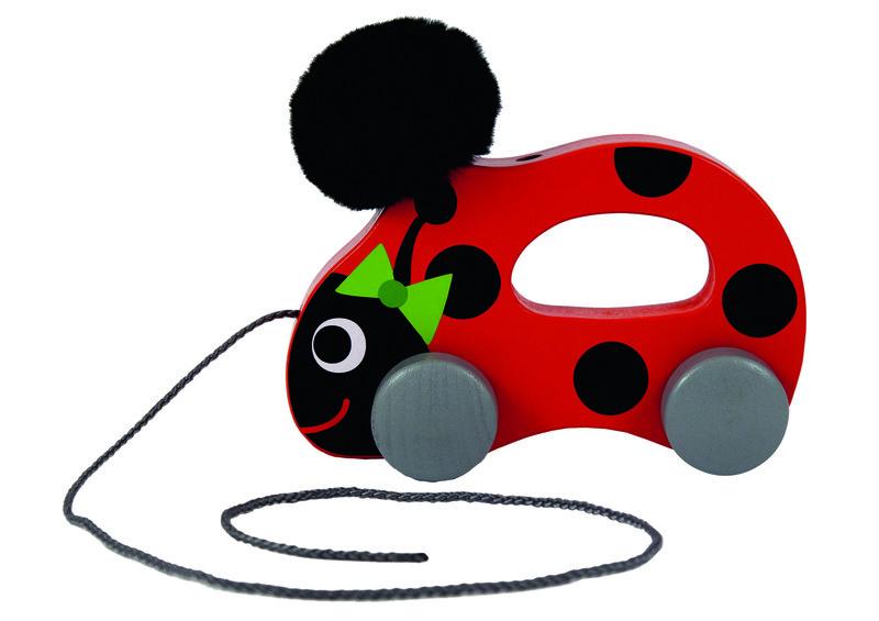 TREFL - Drevená hračka lienka na špagátiku