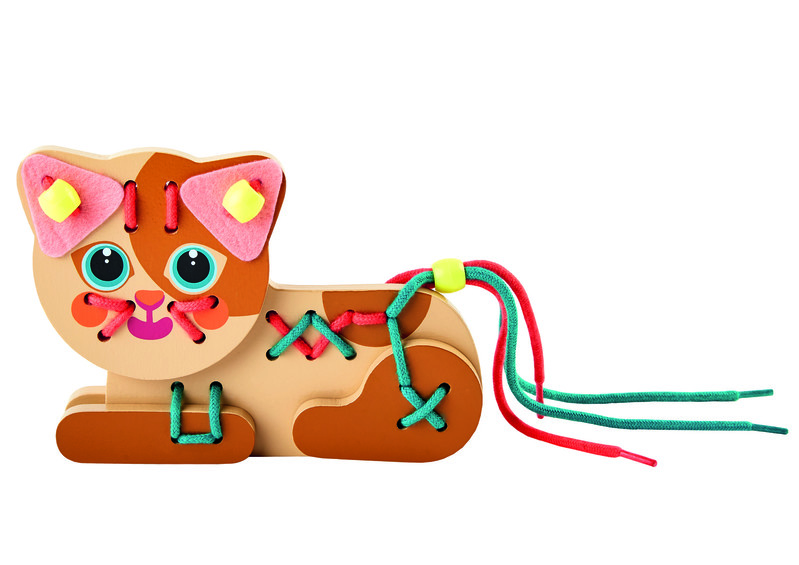 TREFL - Drevená hračka Mačiatko