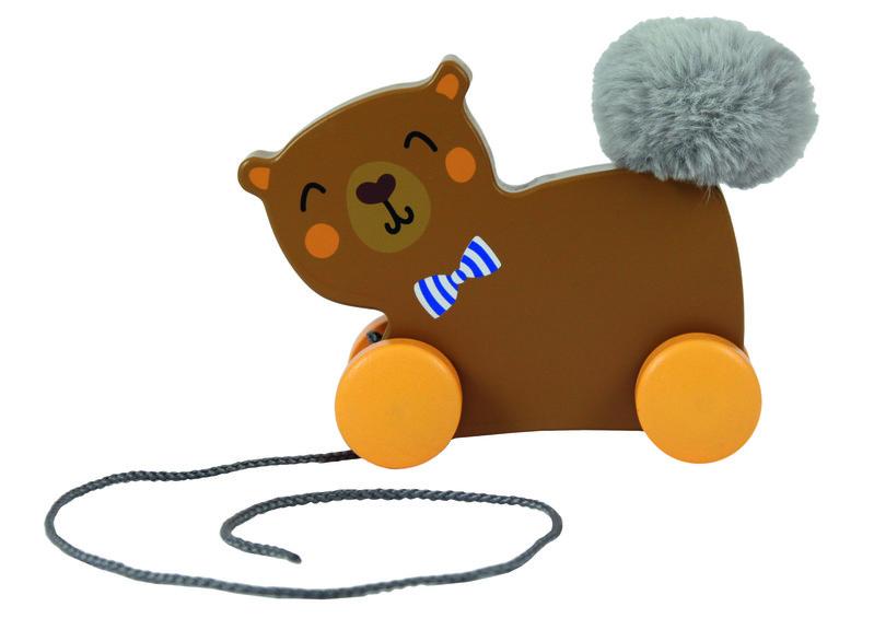 TREFL - Drevená hračka macko na špagátiku