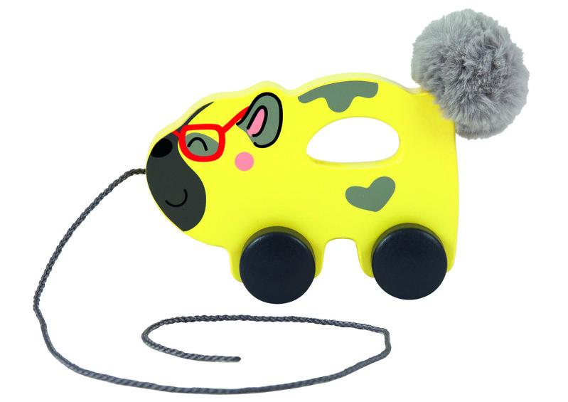 TREFL - Drevená hračka psík na špagátiku