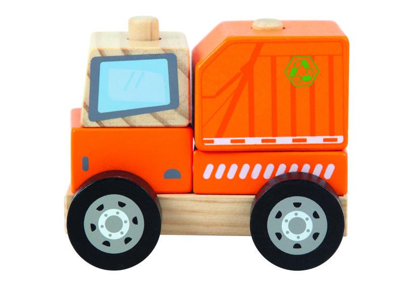 TREFL - Drevená hračka Smetiarské auto