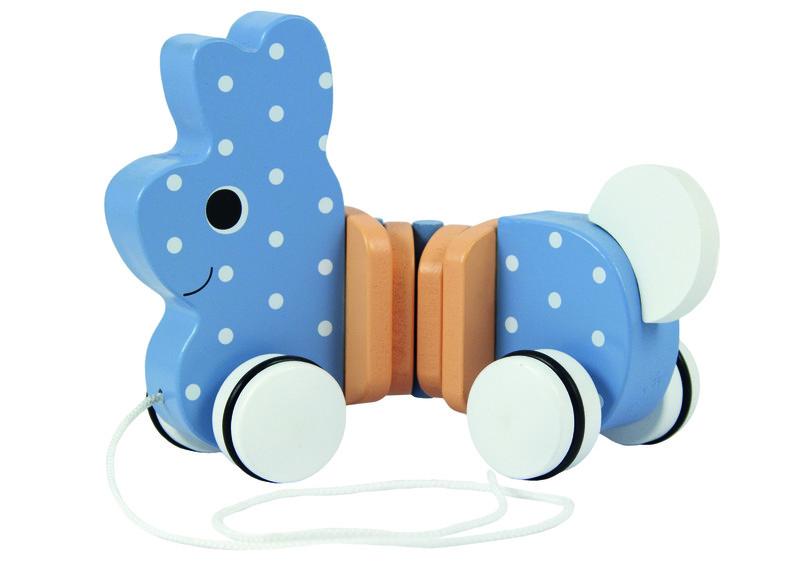 TREFL - Drevená hračka zajko na špagátiku
