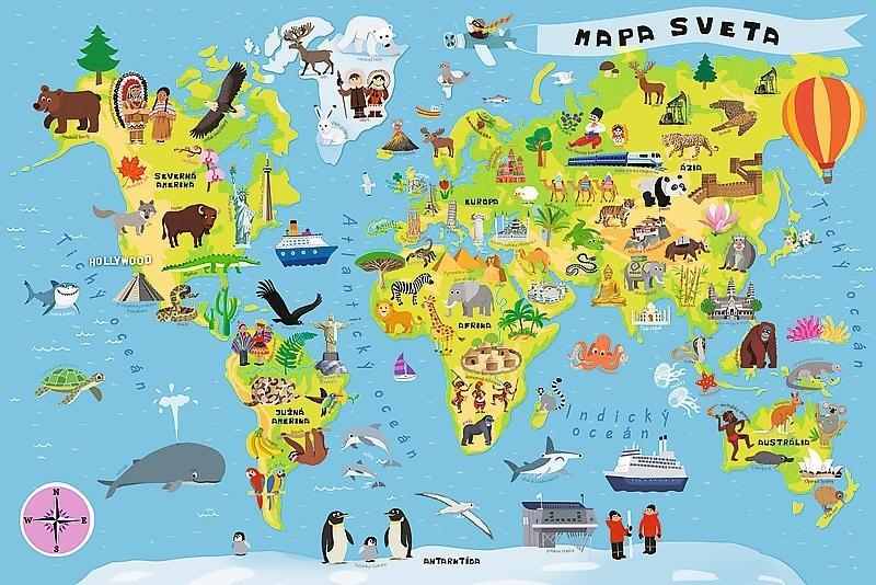 TREFL - Edukačné puzzle mapa sveta 100ks