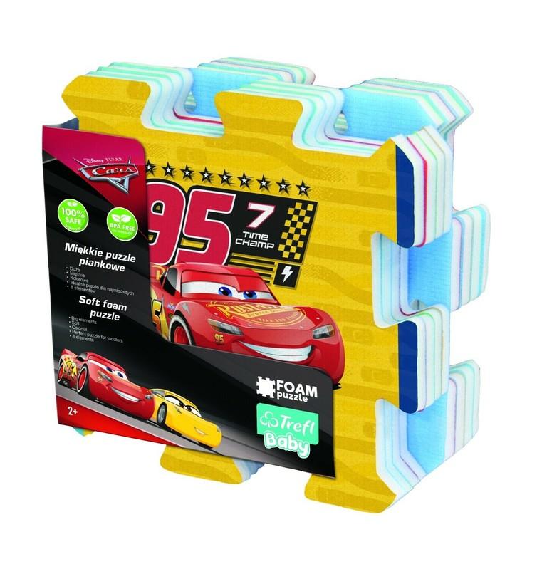 TREFL - Mäkké penové puzzle Cars 3