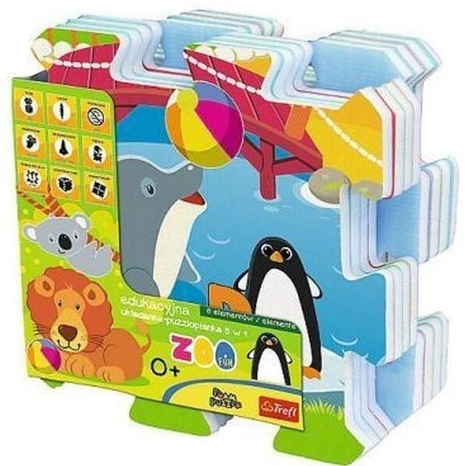 TREFL - penové puzzle Zoo