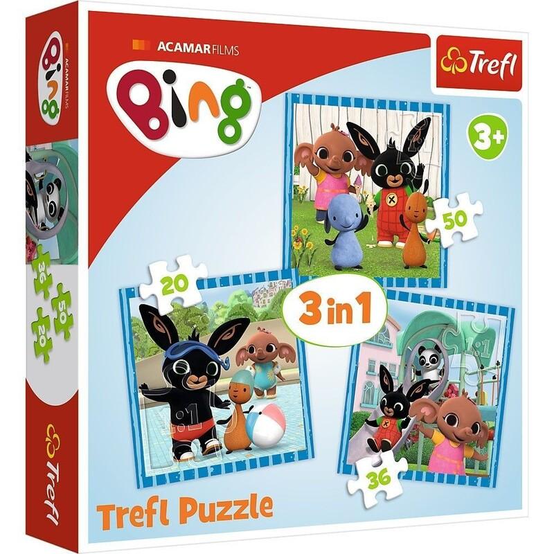 TREFL - puzzle 3v1 Bing Zábava s priateľmi