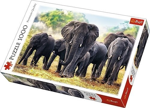 TREFL - Puzzle Africké slony