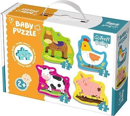 TREFL - Puzzle baby classic zvieratká na farme