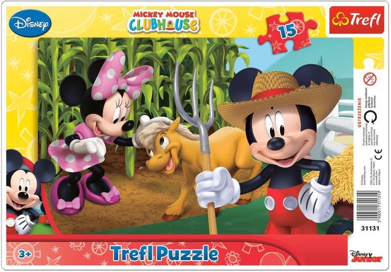 TREFL - Puzzle Mickeyho klubík: Na farme 15 dielikov