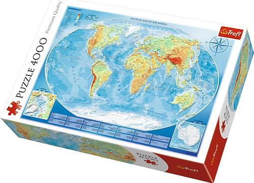TREFL - Puzzle Veľká mapa sveta 4000