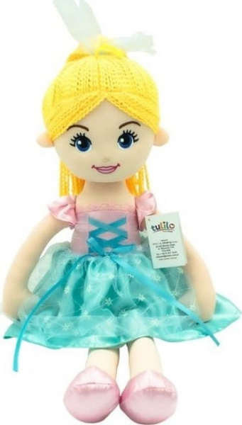 TULILO - Handrová bábika Emilka, 52 cm - blond vlasy