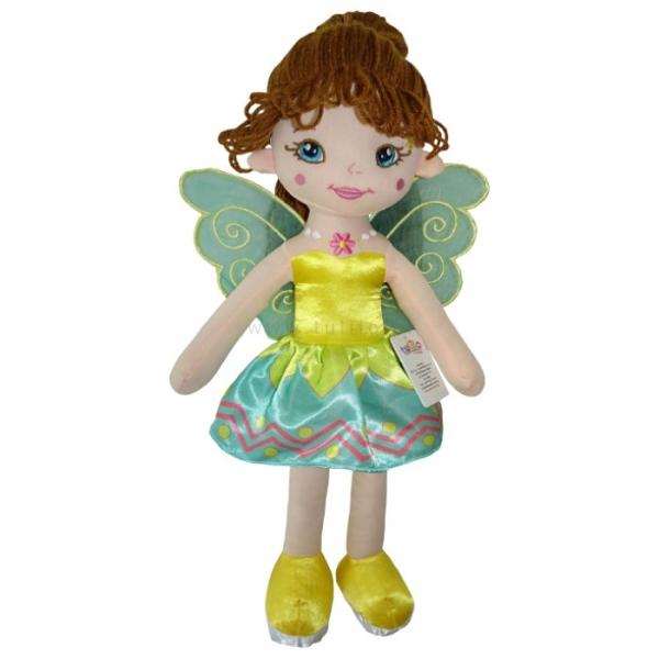 TULILO - Handrová bábika Florentyna, 45 cm - zelená