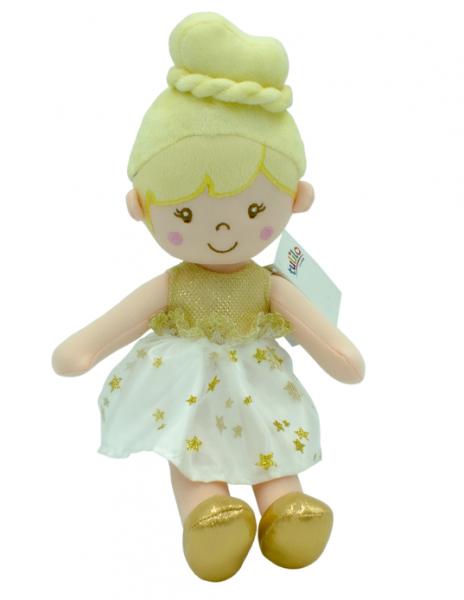 TULILO - Handrová bábika Soňa, 30 cm - žltá