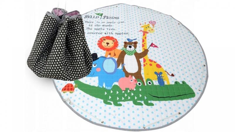 TUTUMI - Hracia deka - kôš na hračky 150 cm - Animals