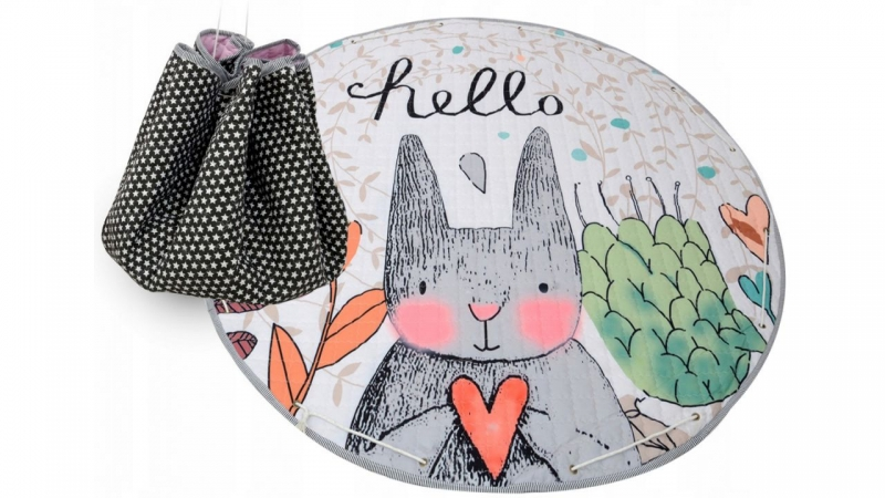 TUTUMI - Hracia deka - kôš na hračky 150 cm - Rabbit