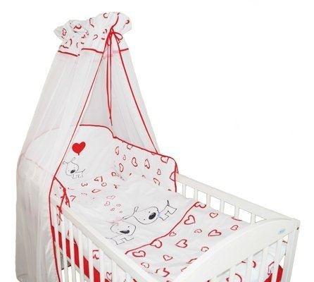 TY I MY - Mantinel s obliečkami PUPPY LOVE - červené so srdiečkami