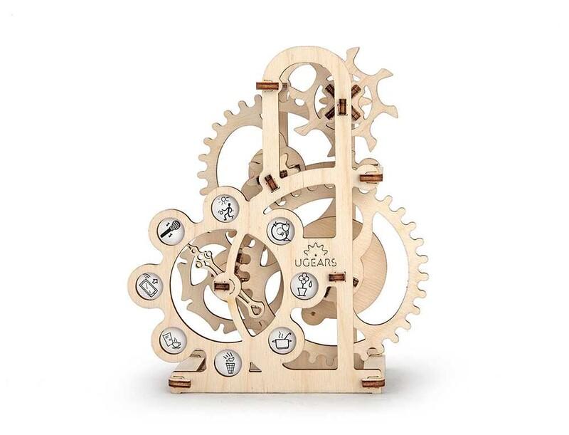 UGEARS - 3D drevené mechanické puzzle Dynamometer