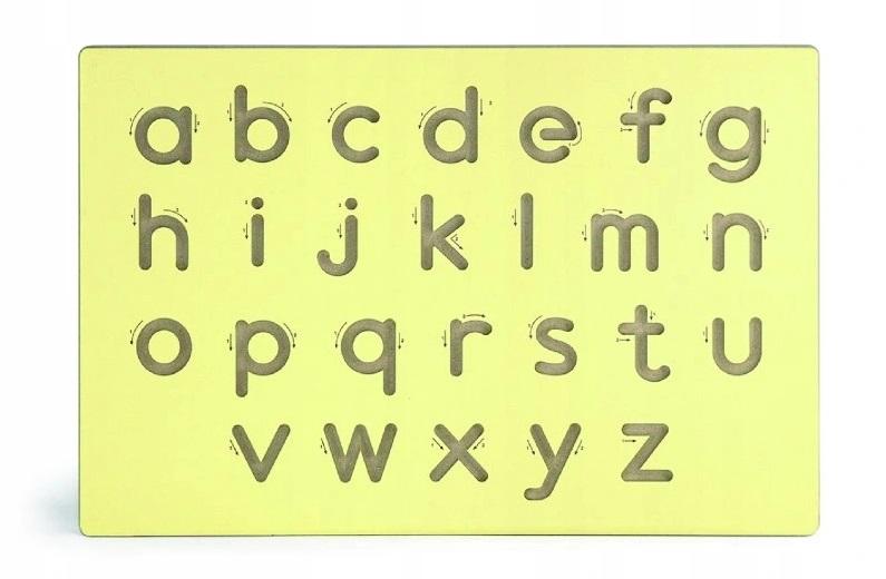 VIGA - Drevená tabuľa na výučbu písania-malé písmená