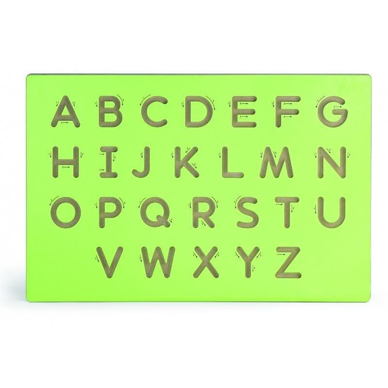 VIGA - Drevená tabuľa na výučbu písania-veľké písmená