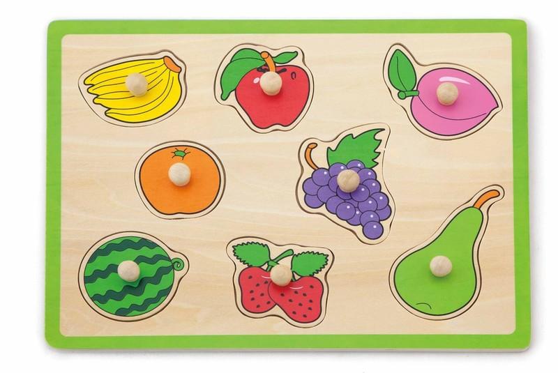 VIGA - Drevená vkladačka ovocie 8 ks