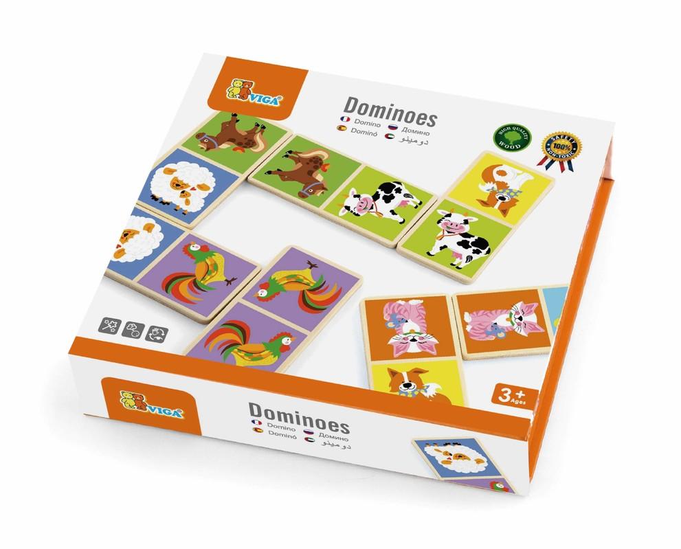 VIGA - Drevené domino Domáce zvieratká