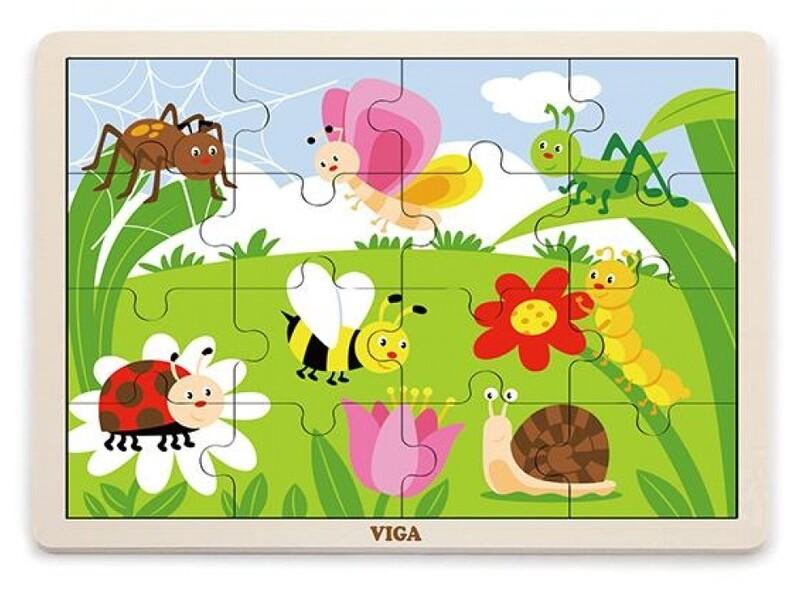 VIGA - Drevené puzzle 16ks