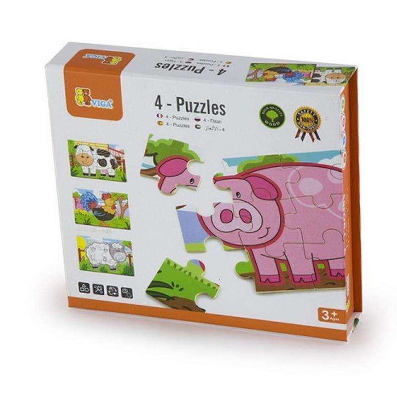 VIGA - Drevené puzzle farma