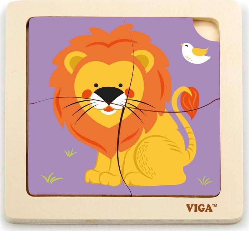 VIGA - Drevené puzzle lev