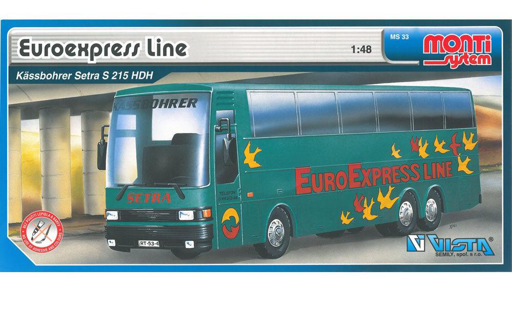 VISTA - Stavebnice Monti 33 Euroexpress Line-Bus Setra
