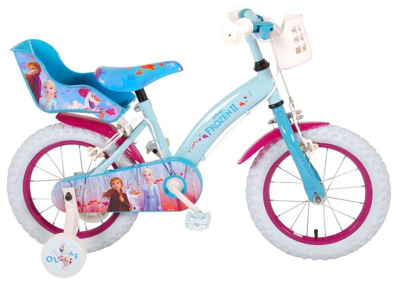 "VOLARE - Detský bicykel 14"" Disney Frozen 2 - Blue / Purple"