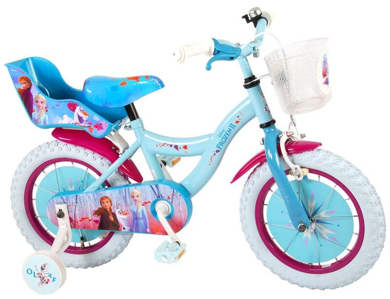 "VOLARE - Detský bicykel 14"" Disney Frozen 2 Blue / Purple"