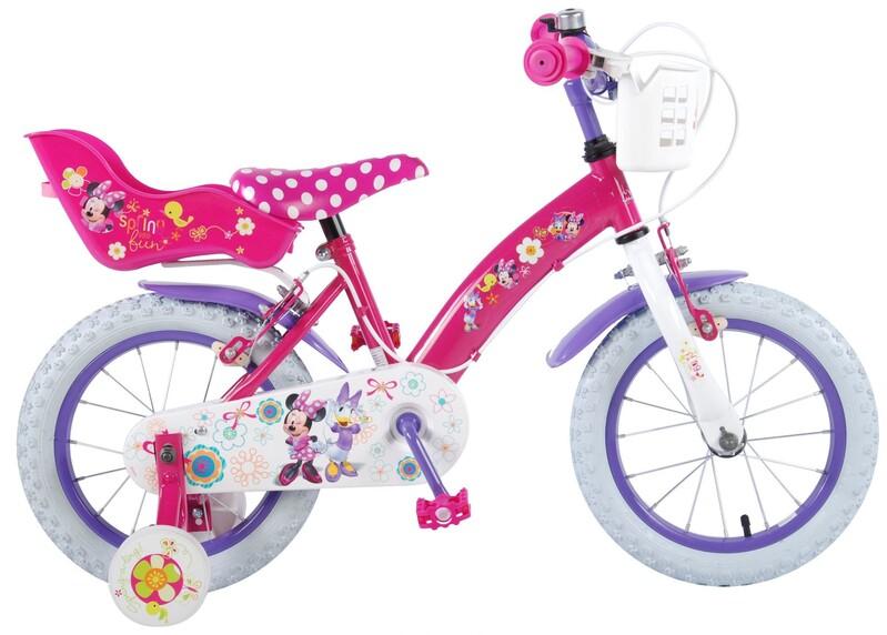 """VOLARE - Detský bicykel 14"""" Disney Minnie Bow-Tique - ružový"""