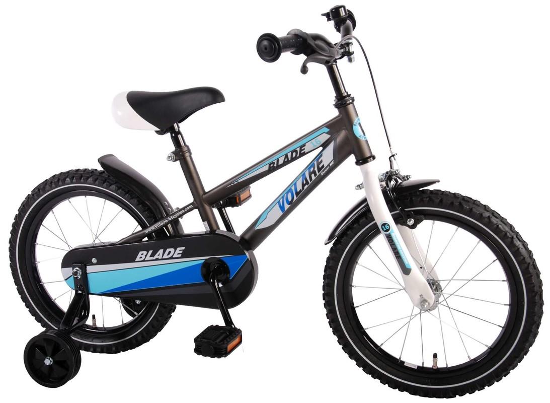 """VOLARE - Detský bicykel pre chlapcov, Blade ,,16"""" – čierno-modrý"""