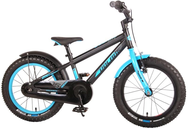 VOLARE - Detský bicykel pre chlapcov Rocky - čierno-modrý16