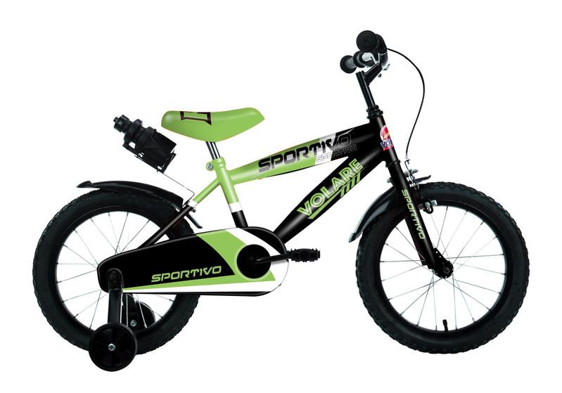 """VOLARE - Detský bicykel pre chlapcov Sportivo Neon Green Black 16""""- zložený na 95 %"""