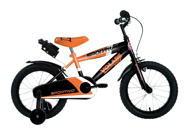 """VOLARE - Detský bicykel pre chlapcov Sportivo Neon Orange Black 16""""- zložený na 95 %"""