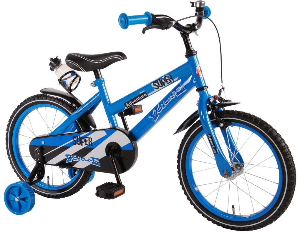 """VOLARE - Detský bicykel pre chlapcov ,,SUPER"""" - modrý, 16"""" - zložený na 95 %"""