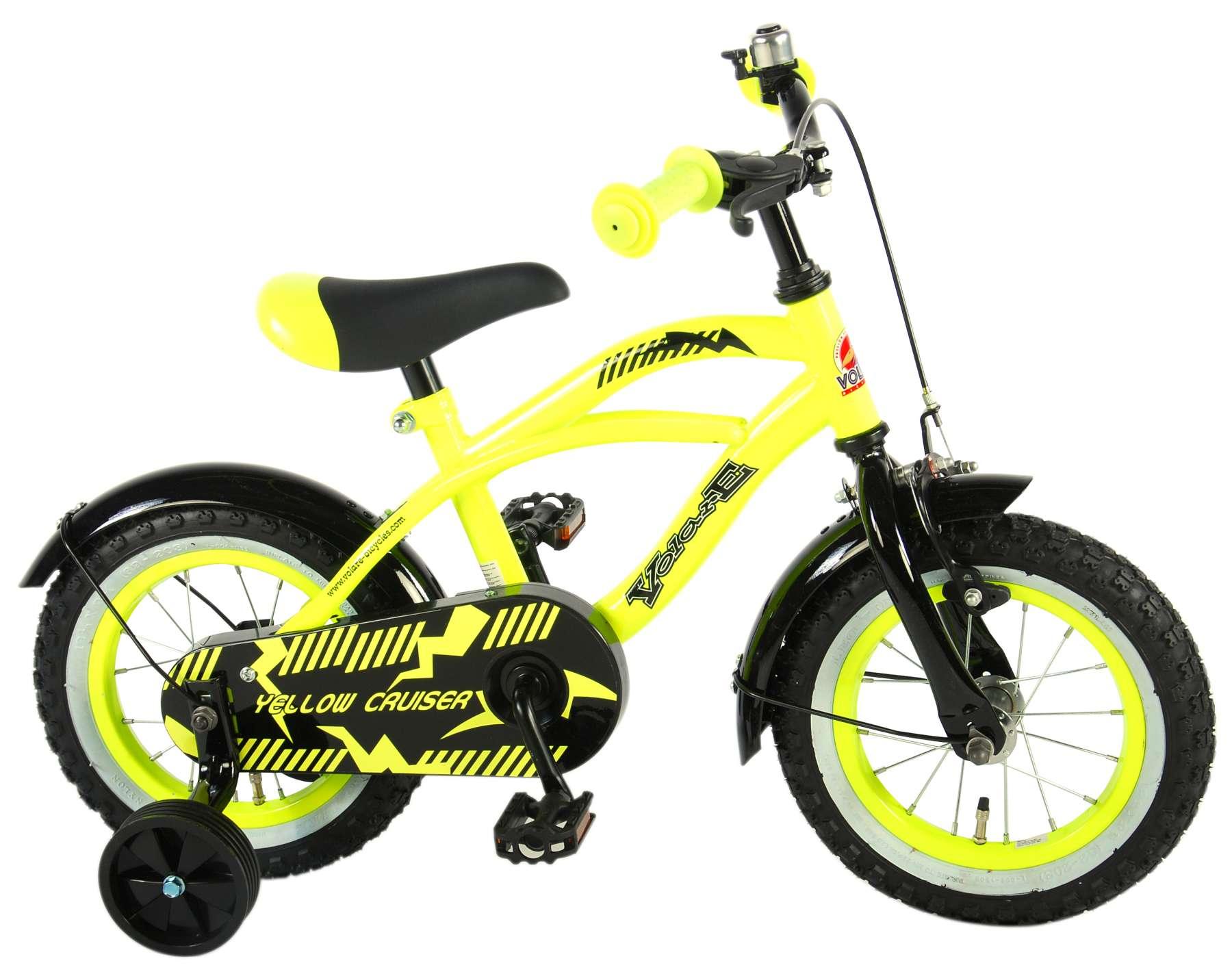 Volare - Detský bicykel pre chlapcov , Yellow Cruiser, 12